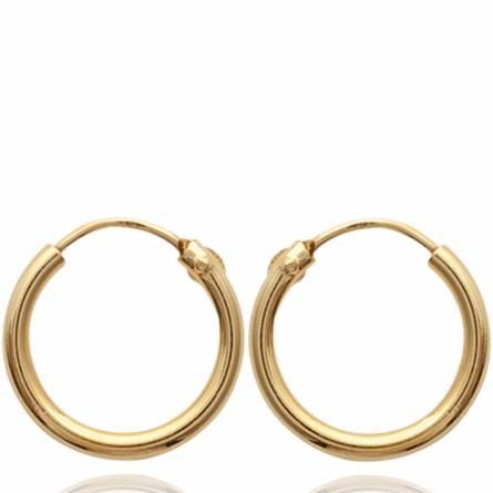 Cercei femei placate cu aur runda