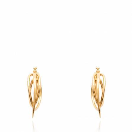 Cercei femei placate cu aur Triple creol