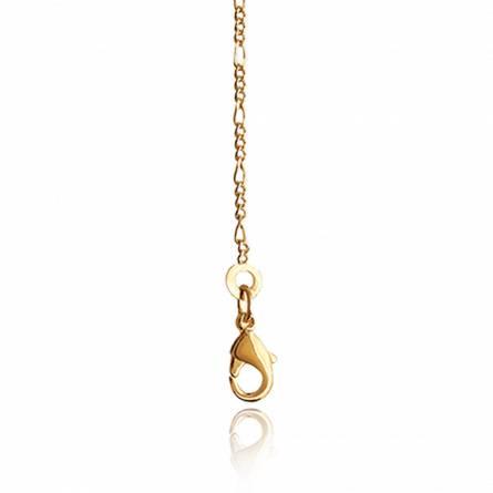 Chaîne plaqué or maille figaro diamanté 1-3 1.5 mm