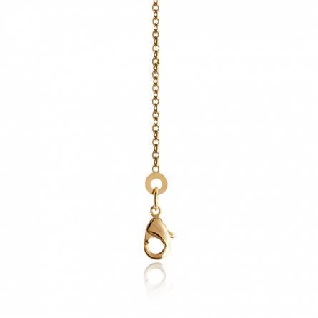Chaîne plaqué or maille forçat diamanté 1.5 mm