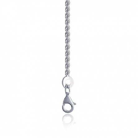 Chaine argent maille corde 1,5mm