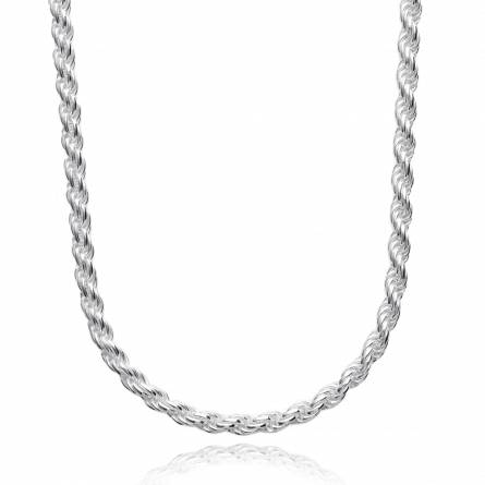 Chaine argent maille corde 4mm
