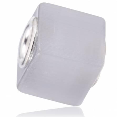 Charms cubique gris clair