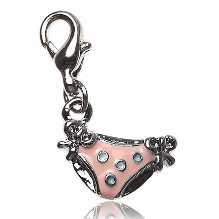 Charm's femei argint metalic Culotte roz