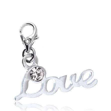 Charm's femei argint metalic Love