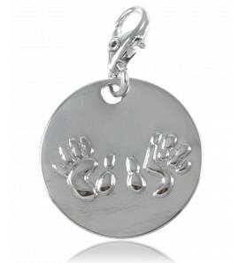 Charm's femei argint metalic