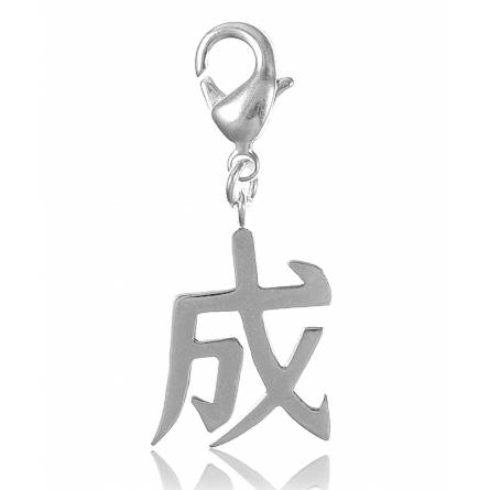 Charm's femei argint metalic Signe alfabet