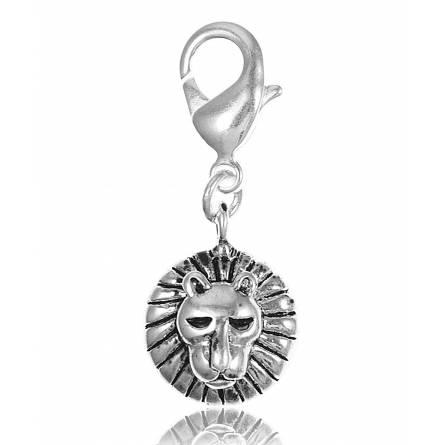 Charm's femei argint metalic Tête de lion