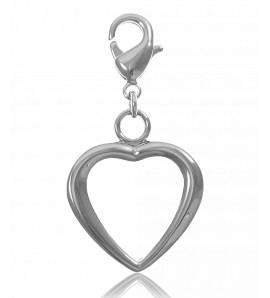 Charm's femei argint metalic Yoah inimioara