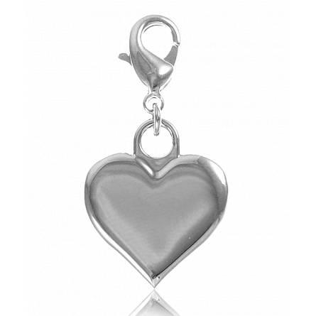 Charm's femei argint metalic Yoanie inimioara