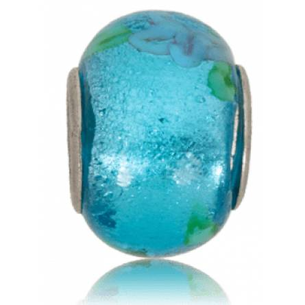 Charms Verre Murano bleu turquoise