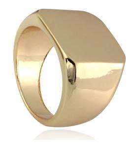 Chevalière homme métal doré Uran