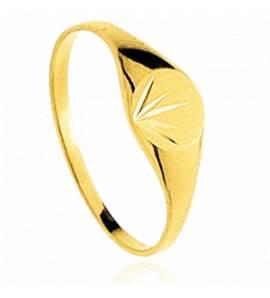 Chevalière or jaune Alebis