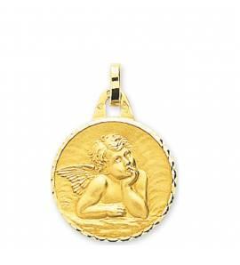 Children gold Ange Raphaël circular pendant