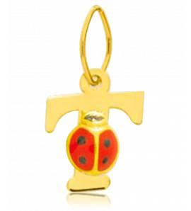 Children gold Moderne letters pendant