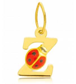 Children gold Moderne letters yellow pendant