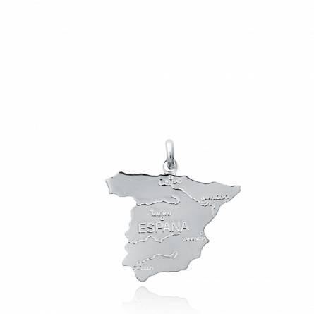 Ciondolo argento Carte de l'Espagne paese