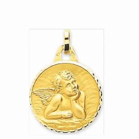 Ciondolo bambino oro Ange Raphaël arrotondato