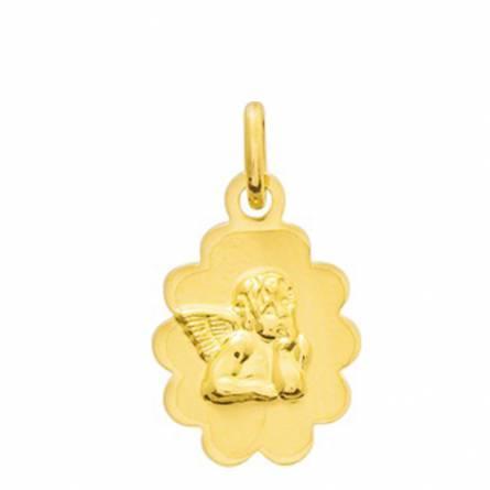 Ciondolo bambino oro Ange Raphaël nuage arrotondato