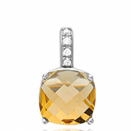 Ciondolo donna argento Benedikta giallo