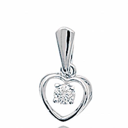 Ciondolo donna argento Benedikte cuore