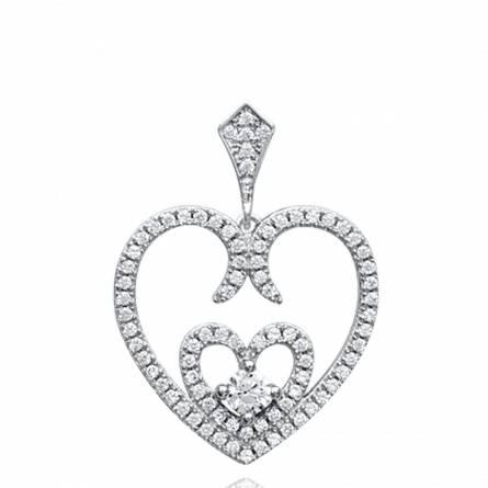 Ciondolo donna argento Bengta cuore