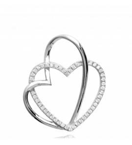 Ciondolo donna argento Birgitta cuore