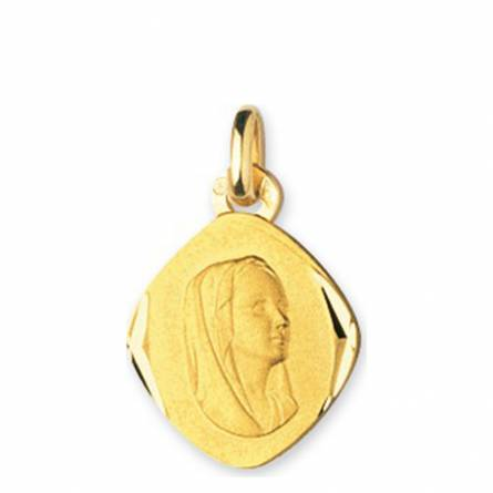 Ciondolo donna oro Vierge Marie Losange medaillon