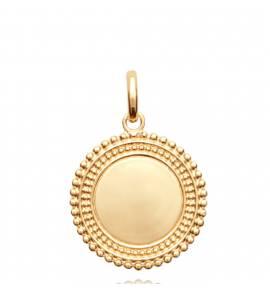 Ciondolo donna placato in oro Cyrilla arrotondato