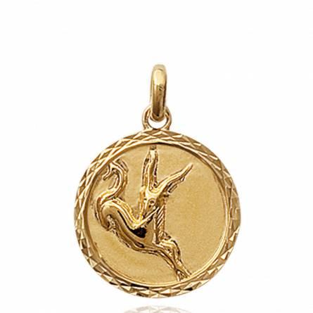 Ciondolo donna placato in oro medaillon