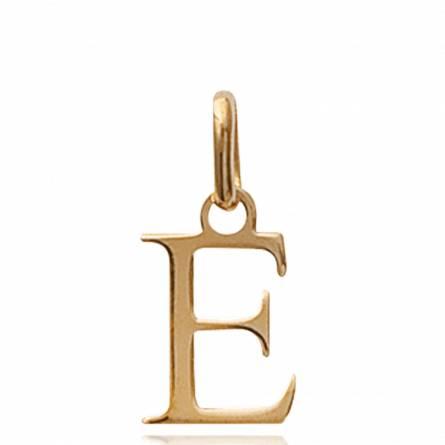Ciondolo donna placato in oro Moderne lettera