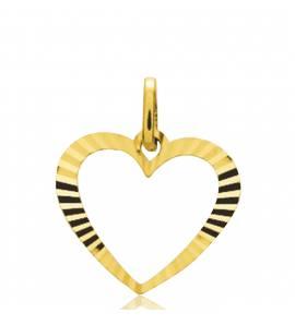 Ciondolo oro Éclatant cuore giallo