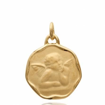 Ciondolo placato in oro Caecilia angelo