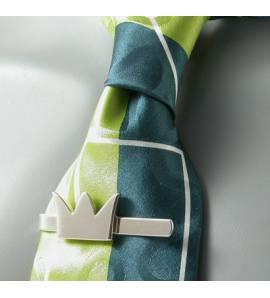 Clip de corbata hombre plata Templiers
