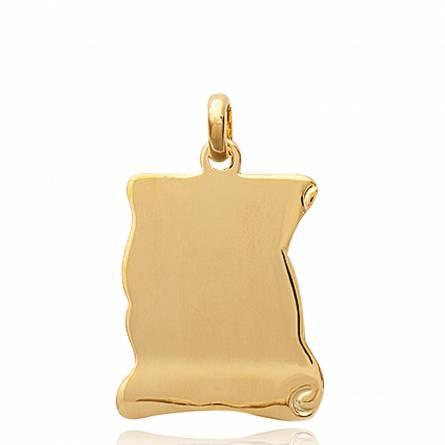 Colgante mujer bañado en oro Cunégonde pergamino