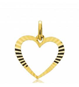 Colgante mujer oro Éclatant corazón amarillo