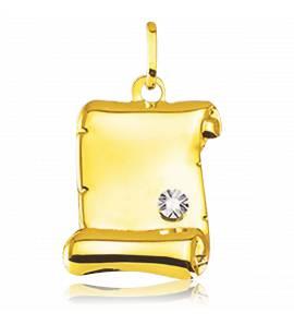 Colgante mujer oro Anisim pergamino