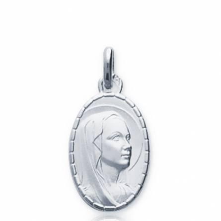 Colgante mujer plata Vierge Marie