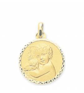 Colgante  niño oro Ange Raphaël guérisseur redondel