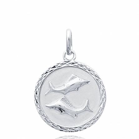 Colgante  niño plata medaillon
