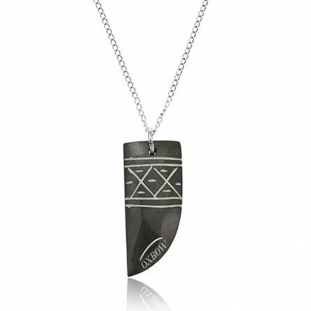 Colier barbati oțel Seydou negru