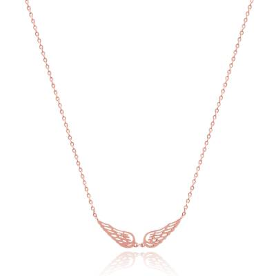 Collar mujer acero Ailes D'anges rosa