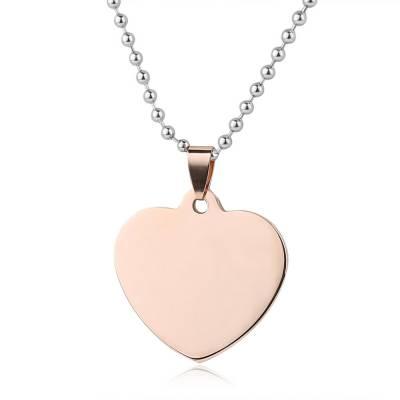 Collier acier coeur