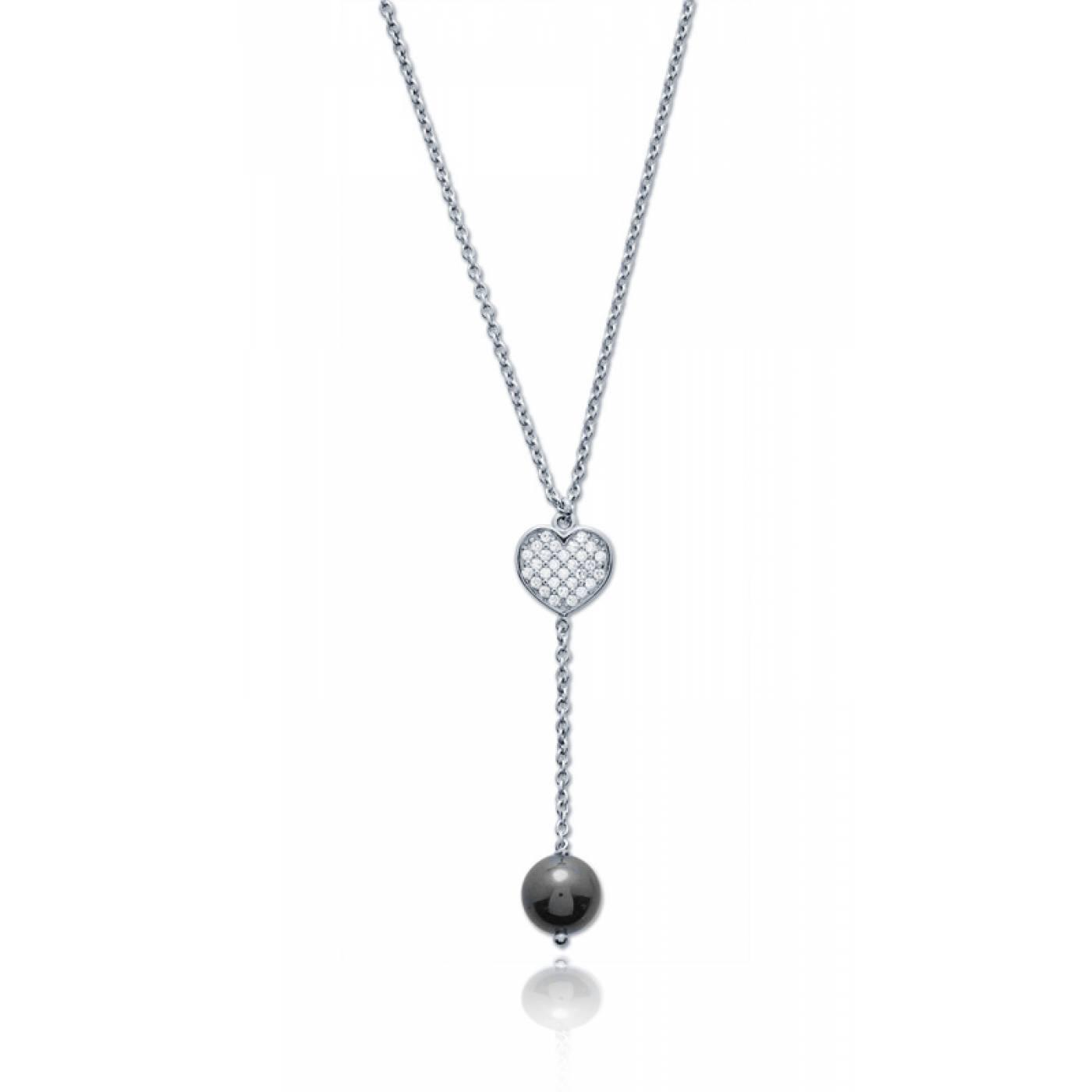 collier coeur femme infini noir bijoux paris. Black Bedroom Furniture Sets. Home Design Ideas