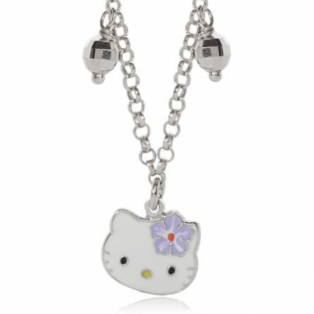 Collier argent facette Kitty violet Naneto