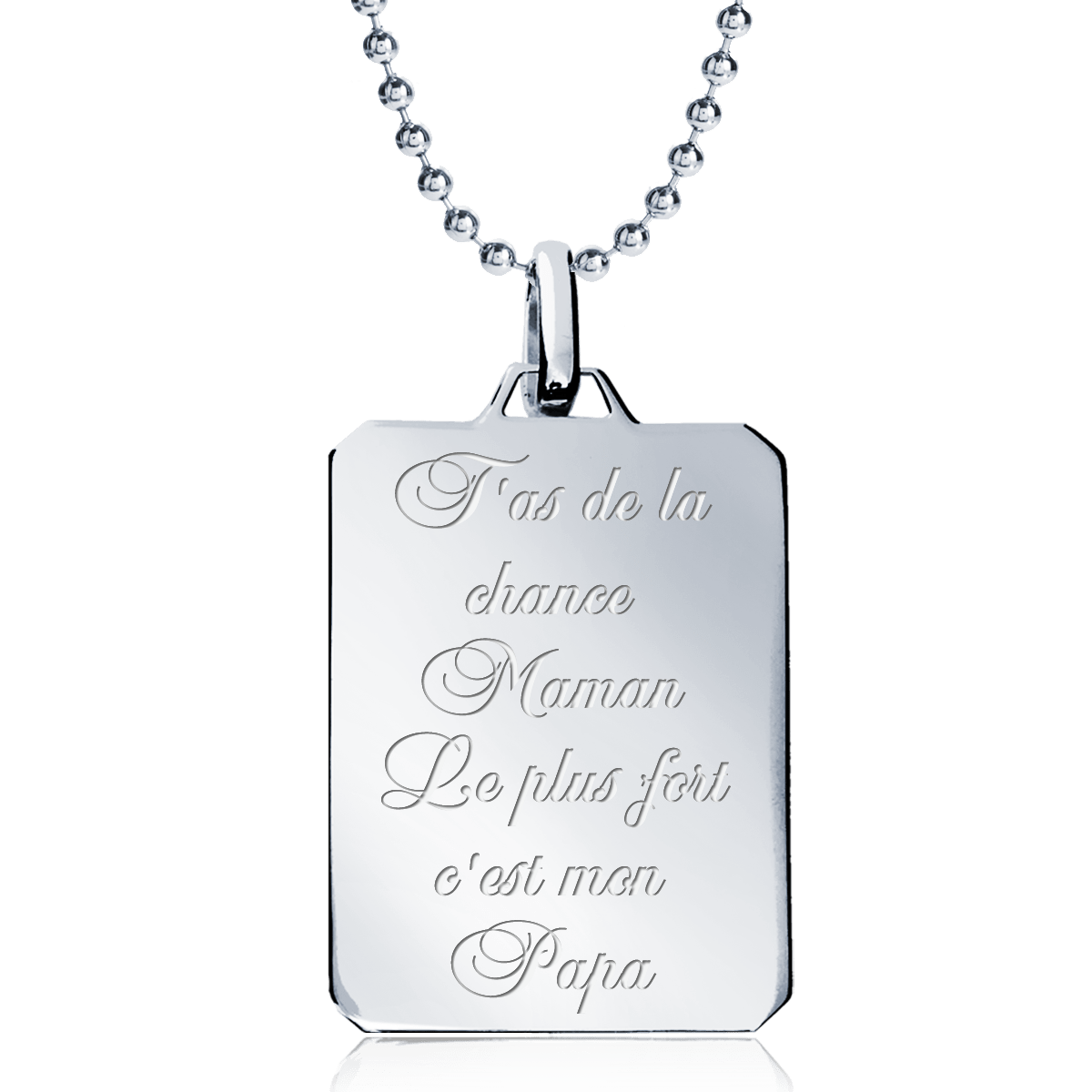 collier homme message