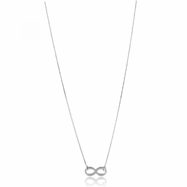 collier infini femme argent rhodi gris 22909. Black Bedroom Furniture Sets. Home Design Ideas
