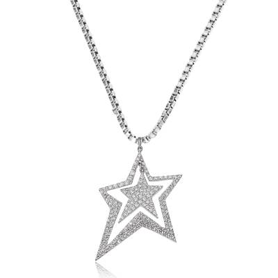 Collier argent strass Stars Infinity