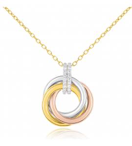 Collier cercle 3 ors