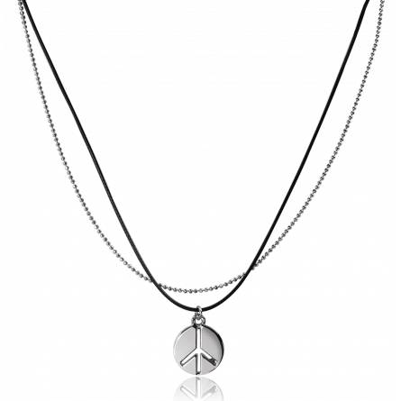 Collier chainette Peace and Love